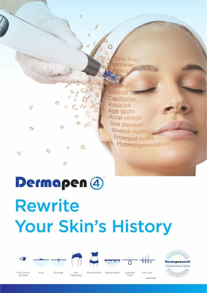 dermapen 4 tratamentul cosmetic profesional eficient pentru textura piele pori deschisi, anti acnee, regenerare, cicatrici, anti age